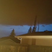 Storm moving in over Lago Lindo in ne edmonton