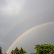 Bright double rainbow!