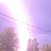 Lightening strike in Miramichi