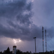 Supercell producing Anvil Crawlers over Miramichi