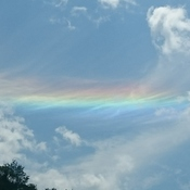 Rainbow in the clouds?