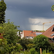 Storm over Endingen am Kaiserstuhl, Germany