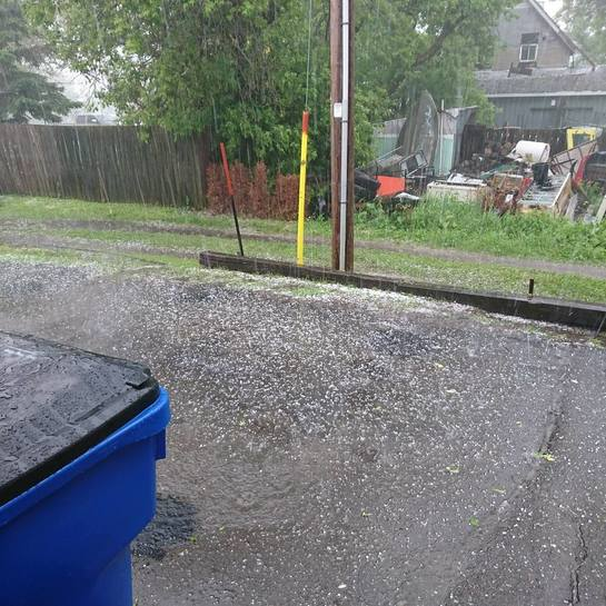 Crazy hail storm 80 King St, North Cobalt, ON P0J 1R0, Canada