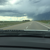 Rain clouds near Medicine Hat