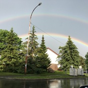 Rare double rainbow in Nepean, ON