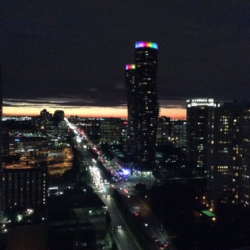 Mississauga cityscape at night