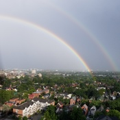 Double rainbow downtown Ottawa