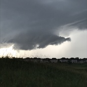 Cyclonic cloud formation Barrhaven (Stonebridge) Ontario