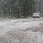 Hailstorm in Manotick, today -Wednesday July 28th, 2017