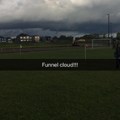 Funnel cloud spotted Edmonton south