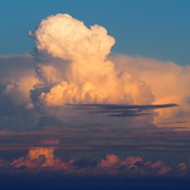 Towering Cumulus over Lake Ontario
