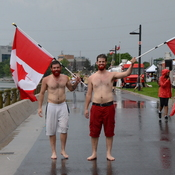 SOGGY CANADA DAY AT SPENCER SMITH PARK