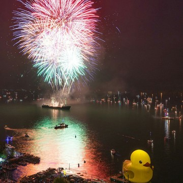 harbourfront gaint yellow duck