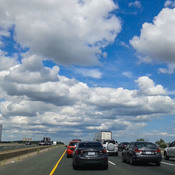 Amazing clouds over Highway 401