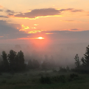 Sunrise over Village of Gagetown NB today.