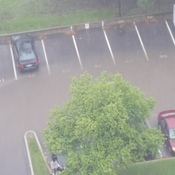 flooding in the parking lot at my building