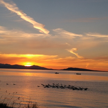 Sunset Qualicum Beach BC