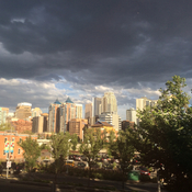 Clouds over Calgary.