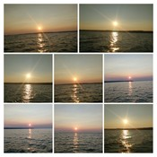 beautiful sunset on lake superior