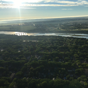 From the balloon