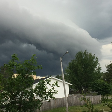 Weather front in Grand Falls Windsor NL