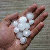 marble sized hail