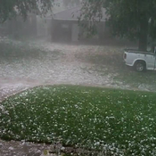 Large Hail in Minnedosa,Manitoba