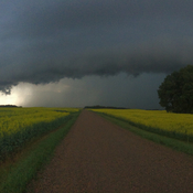 Amazing shelf cloud