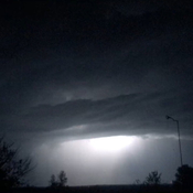 Lightning during thunderstorm, Thursday, July 20th, Rusagonis Station