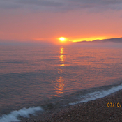 Sunset on Agawa Bay