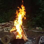 Fire burning at Darlington provincial park