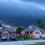 Storm clouds over Elora ON