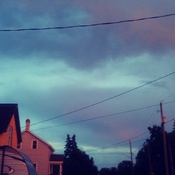 blue and purple sky