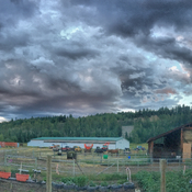 The storm last night in Quesnel