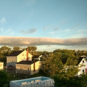 long, narrow cloud making its way across Glace Bay