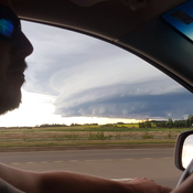 Scary cloud, south of Edmonton