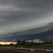 Shelf cloud over Edmonton