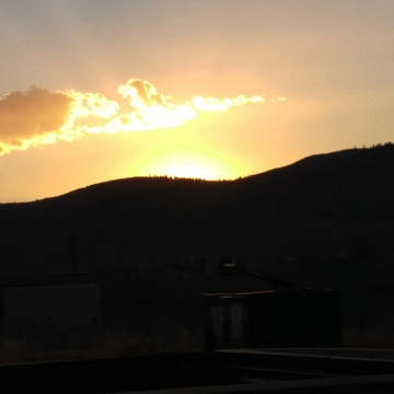 evening sun in Vernon beautiful