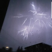 Wicked lightening in Battleford