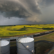Storm Cell in Camrose AB