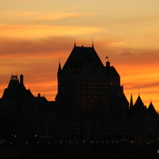 Chateau Frontenac at Sunset