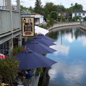 Dining by the canal - Perth Ontario