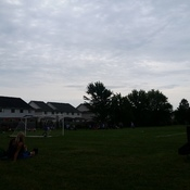 clouds at a soccer game