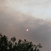 Smoke moving into Calgary again