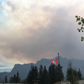 Smoke quickly invades Canmore