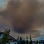 Forest Fire Smoke flows into Calgary
