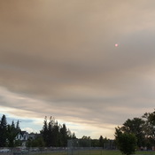 Smokey skies in hillhurst