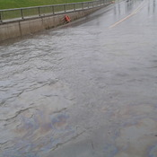 Flood at Gardiner Road Underpass