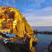 Italian Fishing Village on the Edge