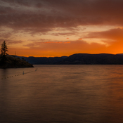 Sunset at Bertram Creek Park in Kelowna.